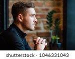 portrait of a beautiful stylish ... | Shutterstock . vector #1046331043