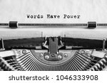 words have power text typed... | Shutterstock . vector #1046333908