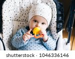 feeding. adorable baby child... | Shutterstock . vector #1046336146