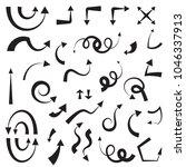 decorative arrow icon set... | Shutterstock . vector #1046337913