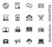 communication icons   set 2 | Shutterstock .eps vector #104633918