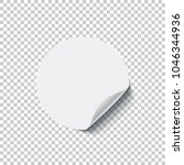 round white blank sticker with... | Shutterstock .eps vector #1046344936
