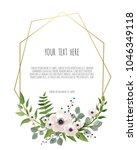 stylish floral vector design... | Shutterstock .eps vector #1046349118