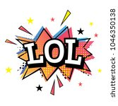 lol. comic cartoon speech... | Shutterstock .eps vector #1046350138