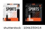 t shirt design training sports... | Shutterstock .eps vector #1046350414