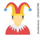 a man with jester hat... | Shutterstock .eps vector #1046350780