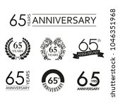 65 years anniversary icon set.... | Shutterstock .eps vector #1046351968