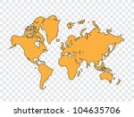 world map | Shutterstock .eps vector #104635706