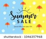 summer season banner or flyer... | Shutterstock .eps vector #1046357968