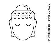 buddha head icon. outline... | Shutterstock .eps vector #1046363188