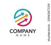 digital marketing vector logo... | Shutterstock .eps vector #1046367154