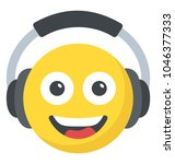 smiling face emoji with large... | Shutterstock .eps vector #1046377333