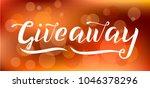 giveaway vector lettering... | Shutterstock .eps vector #1046378296