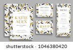 wedding invitation card suite... | Shutterstock .eps vector #1046380420
