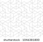 abstract geometric pattern with ... | Shutterstock .eps vector #1046381800