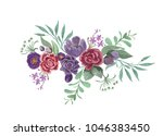 watercolor painting floral...   Shutterstock . vector #1046383450
