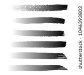 set of hand painted black brush ... | Shutterstock .eps vector #1046393803