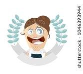 businesswoman is getting an... | Shutterstock .eps vector #1046393944