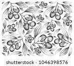 tropical fruit  illustration... | Shutterstock . vector #1046398576