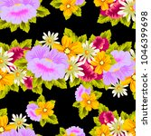 beautiful floral seamless... | Shutterstock .eps vector #1046399698