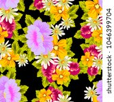 beautiful floral seamless... | Shutterstock .eps vector #1046399704