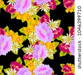 beautiful floral seamless... | Shutterstock .eps vector #1046399710