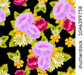 beautiful floral seamless... | Shutterstock .eps vector #1046399758