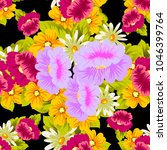 beautiful floral seamless... | Shutterstock .eps vector #1046399764