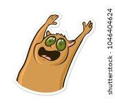 sticker for messenger with... | Shutterstock .eps vector #1046404624