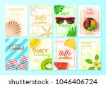 set of summer flyer design... | Shutterstock .eps vector #1046406724
