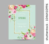 floral spring design template... | Shutterstock .eps vector #1046410996