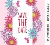 flower invitation card flower...   Shutterstock .eps vector #1046411683