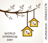 World Sparrow Day. Vector...