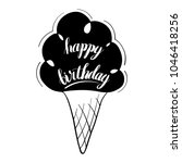 happy birthday isolated vector... | Shutterstock .eps vector #1046418256