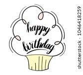 happy birthday isolated vector... | Shutterstock .eps vector #1046418259