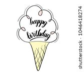 happy birthday isolated vector... | Shutterstock .eps vector #1046418274