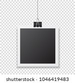 photo frame with shadow hanging ... | Shutterstock .eps vector #1046419483