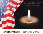 text memorial day with the... | Shutterstock . vector #1046419549