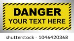 black   yellow danger warning... | Shutterstock .eps vector #1046420368