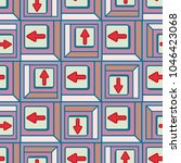 seamless abstract pattern with... | Shutterstock .eps vector #1046423068