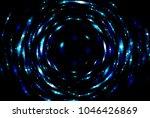 infinite round tunnel on blue... | Shutterstock . vector #1046426869