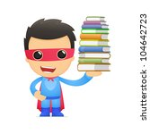 funny cartoon superhero in... | Shutterstock .eps vector #104642723