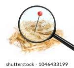 closeup of a needle in haystack....   Shutterstock . vector #1046433199
