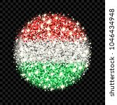 hungary flag sparkling badge....   Shutterstock .eps vector #1046434948