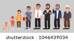 complete life cycle of person's ... | Shutterstock .eps vector #1046439034