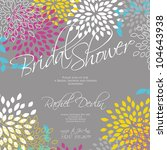 wedding card or invitation with ... | Shutterstock .eps vector #104643938