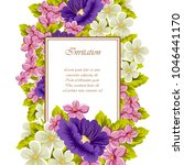 frame of flowers. for your... | Shutterstock .eps vector #1046441170