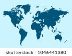 political map of the world in... | Shutterstock .eps vector #1046441380
