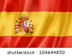 spain flag  three dimensional... | Shutterstock . vector #104644850