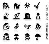insurance icons set | Shutterstock .eps vector #104644874